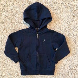 5/$25 Nautica navy blue zippered hoodie